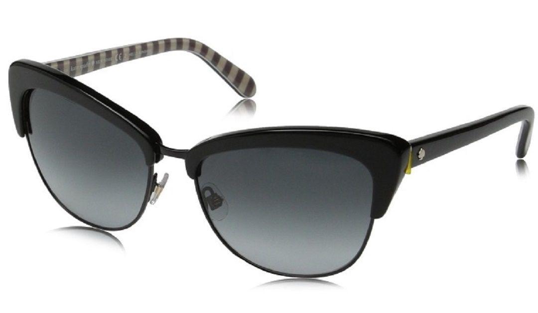 c1b7eb07d2 Lyst - Kate Spade Kate Spade Genette Women Sunglasses in Black