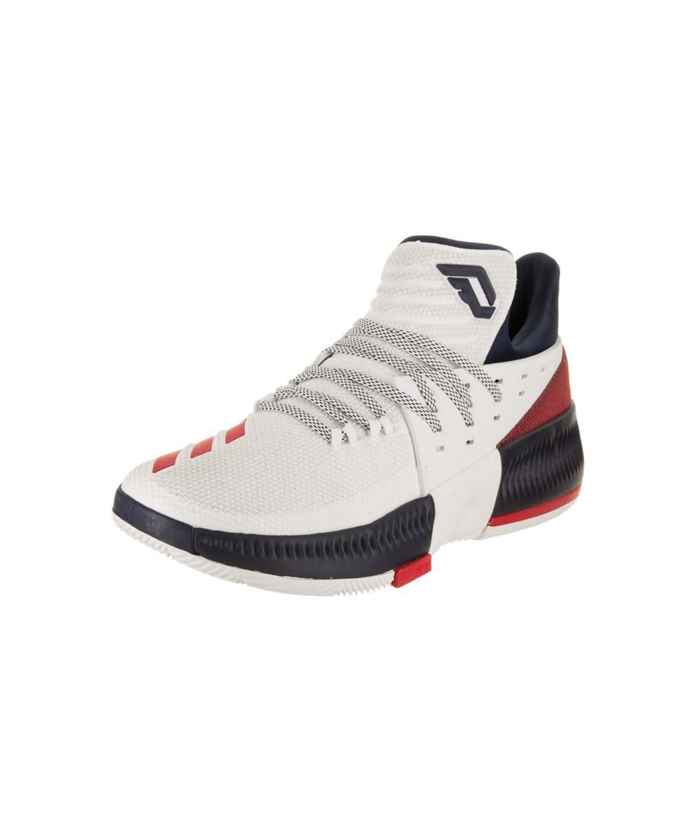 Lyst adidas uomini d lillard 3 basket scarpa in bianco per gli uomini.