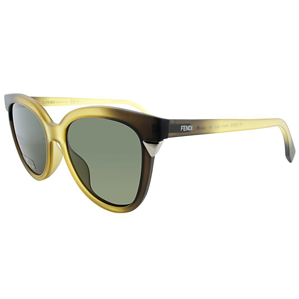 a935b5d359b Lyst - Fendi Ff 0125 Mqq 53 Yellow Grey Cat-eye Sunglasses in Gray