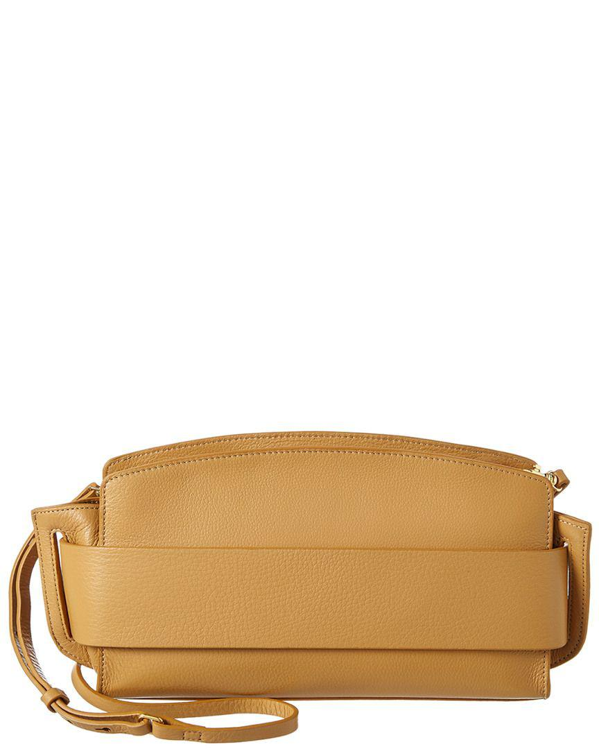 d7d92465bc Lyst - Halston Heritage Large Convertible Leather Clutch