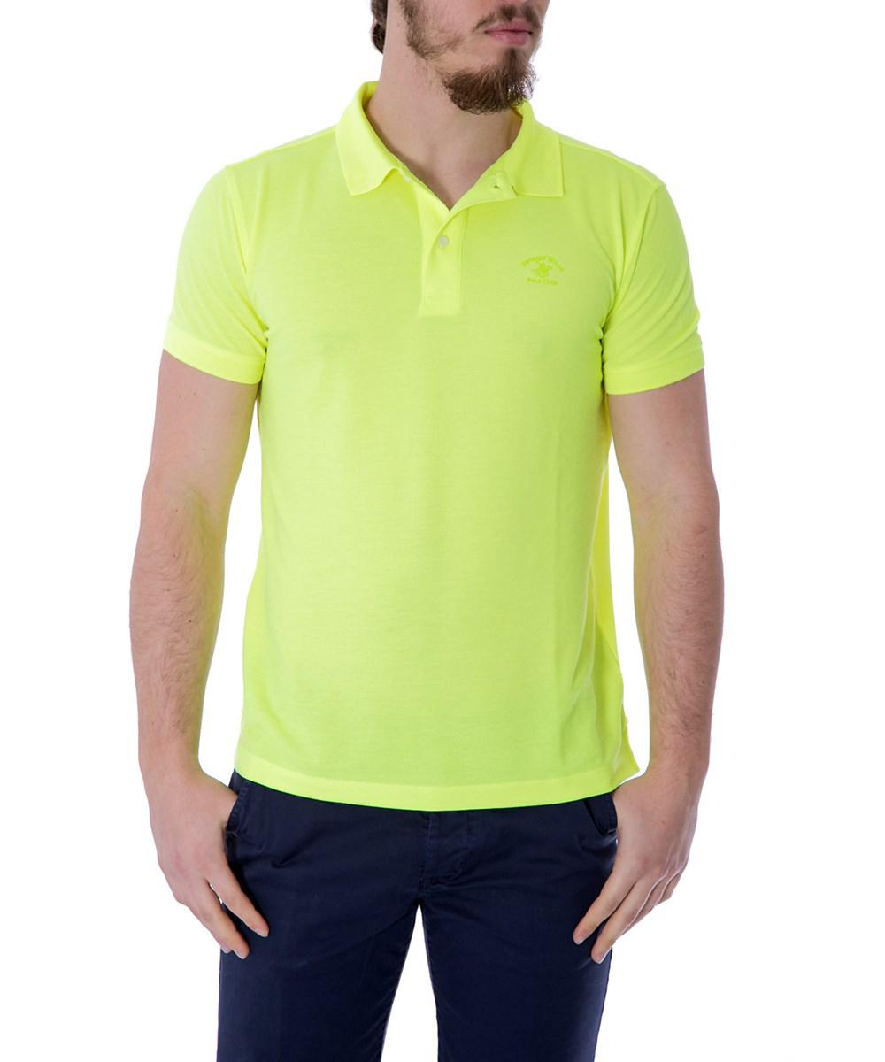 Lyst Beverly Hills Polo Club Mens Yellow Polyester Polo Shirt In