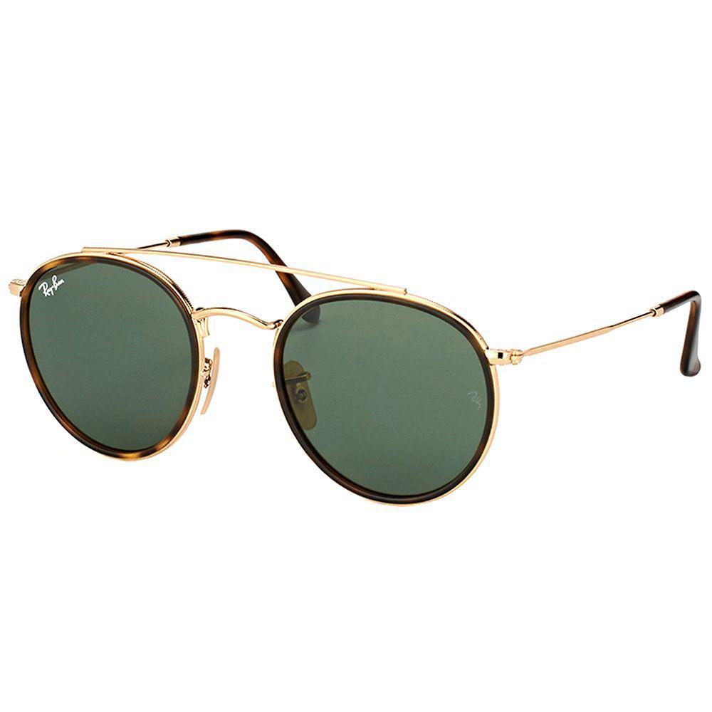 c18c95d8060 Ray-Ban. Women s Round Double Bridge Rb 3647n 001 51mm Gold Round Sunglasses
