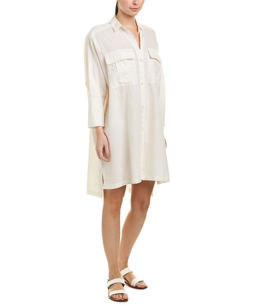 James Perse Woman Gauze Mini Shirt Dress Black Size 1 James Perse FhTaEzROT
