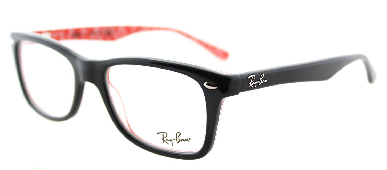 fd9fd9073a Lyst - Ray-Ban Rx 5228 2479 53mm Black Rectangular Eyeglasses in Black