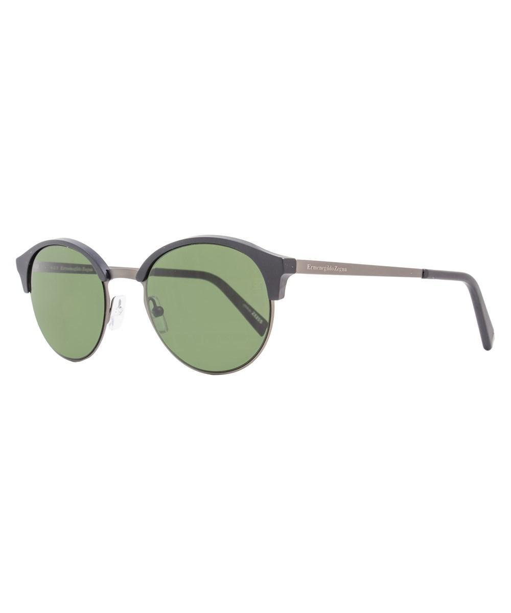 ed88231c60 Lyst - Ermenegildo Zegna Round Sunglasses Ez0046 02n Matte Black ...