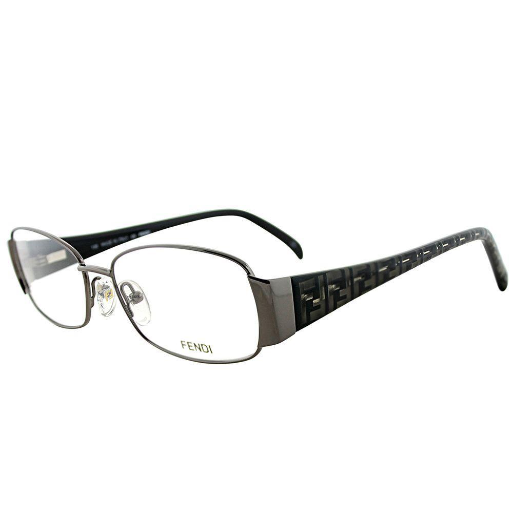 69a9fe467b3 Fendi. Women s Fe 937 035 Gunmetal Rectangle Eyeglasses