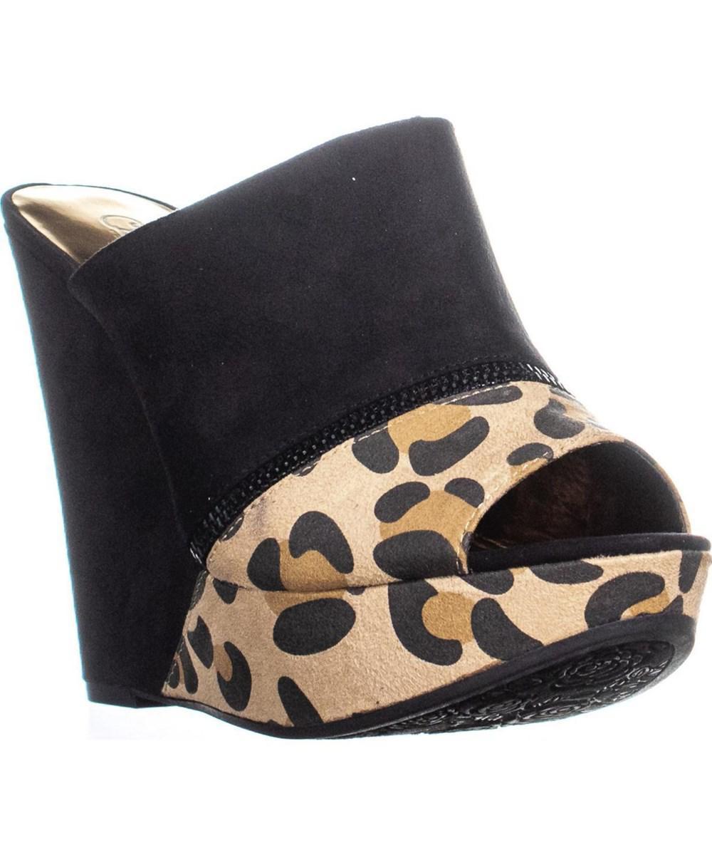 f3118120b844 Carlos By Carlos Santana. Women s Black Mercury Wedge Sandals