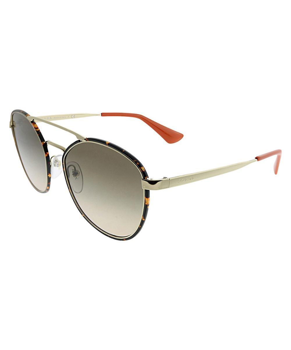 8874a346067af Lyst - Prada Women s Oval 55mm Sunglasses