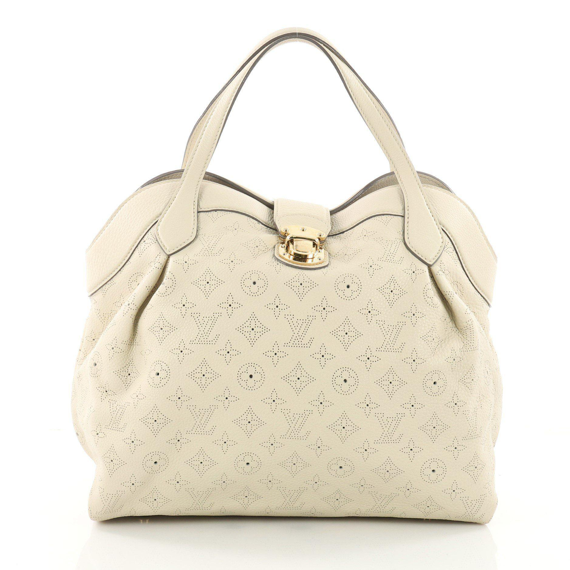 Lyst - Louis Vuitton Cirrus Handbag Mahina Leather Mm in Natural 0167898326a6b