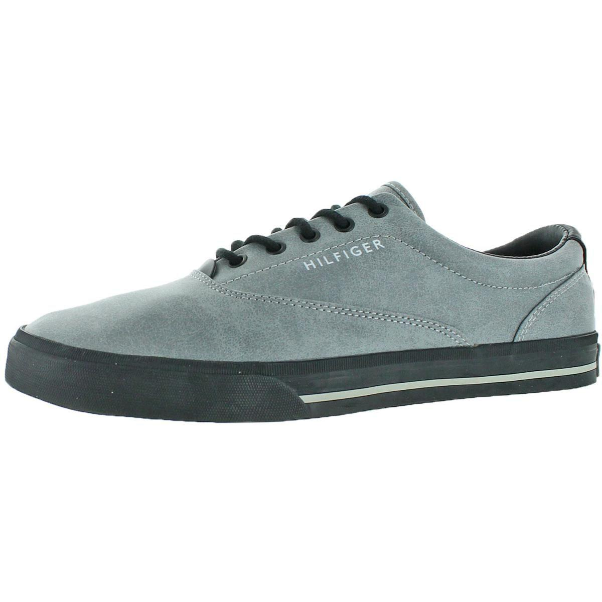 0f84009d13 Tommy Hilfiger. Gray Mens Phelipo 2 Faux Leather Vulcanized Fashion Sneakers
