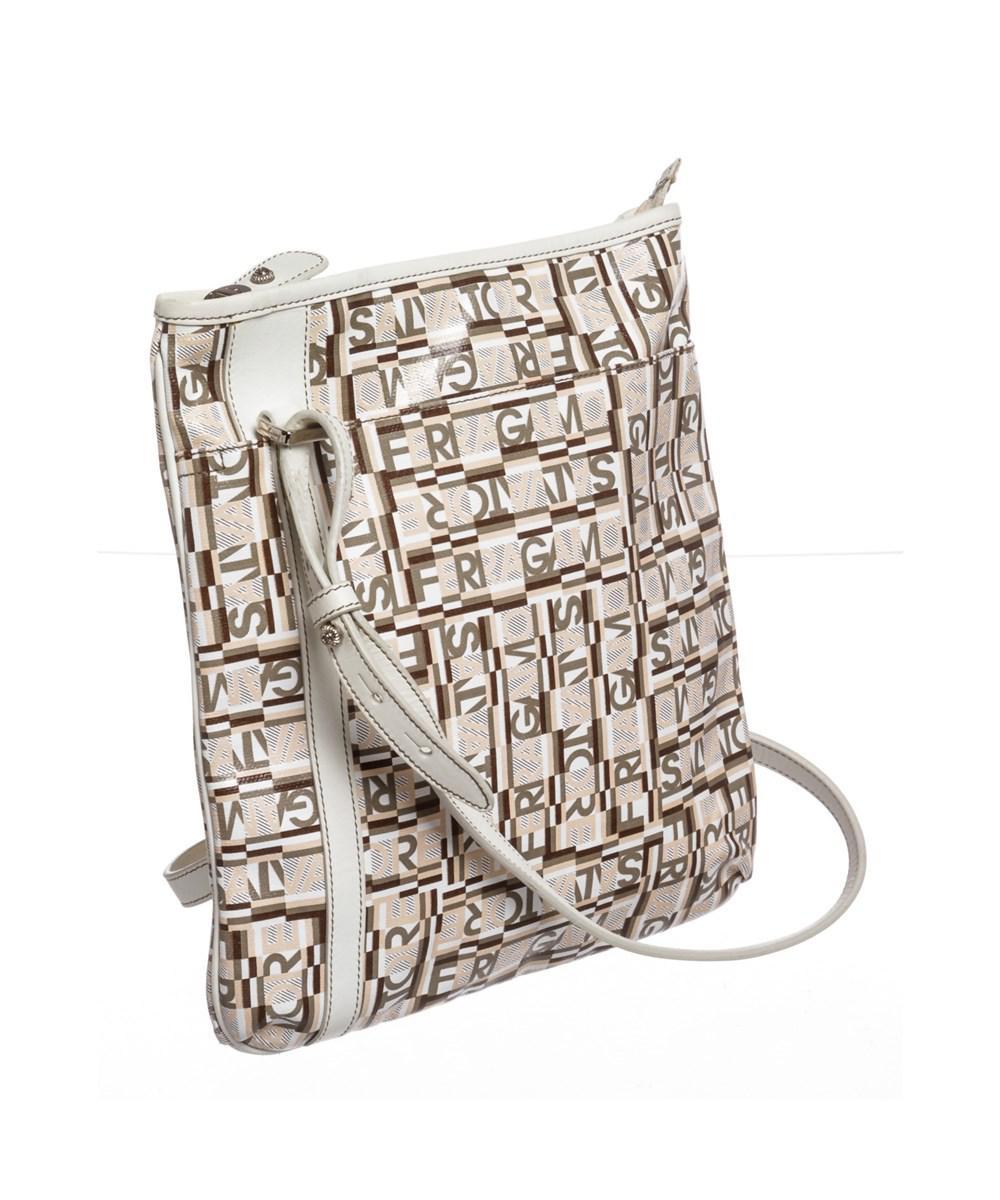 5fdadf783047 Lyst - Ferragamo White Multicolor Coated Canvas Crossbody Bag in White