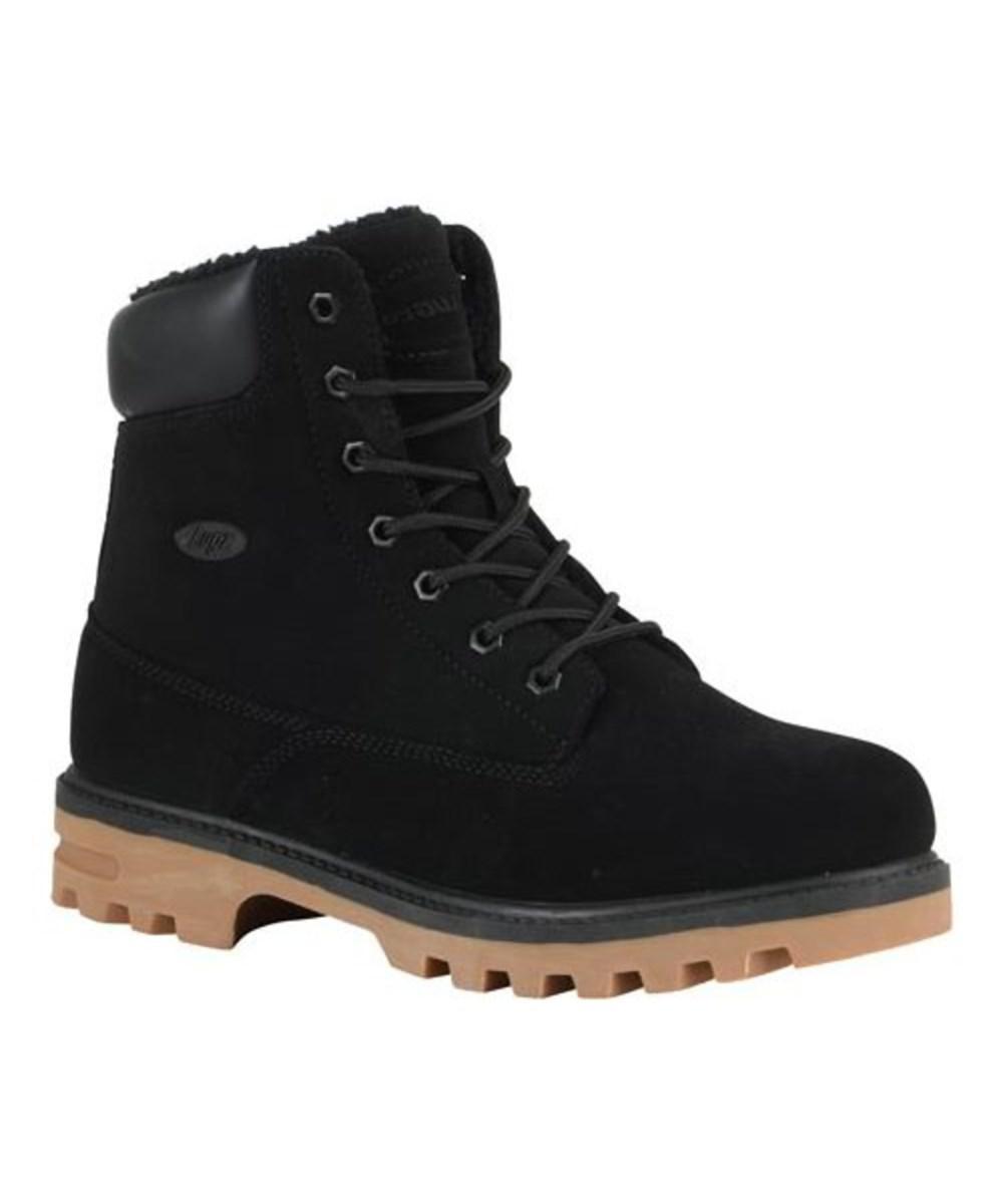 Lugz Black Mens Empire Hi Fleece Wr Boot