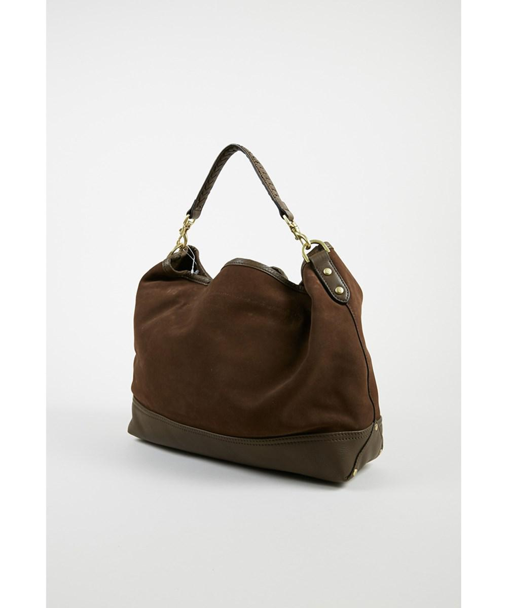 21a2368249a18 ... spain lyst mulberry 1 bark brown velvet suede effie east west hobo bag  in brown 4575a