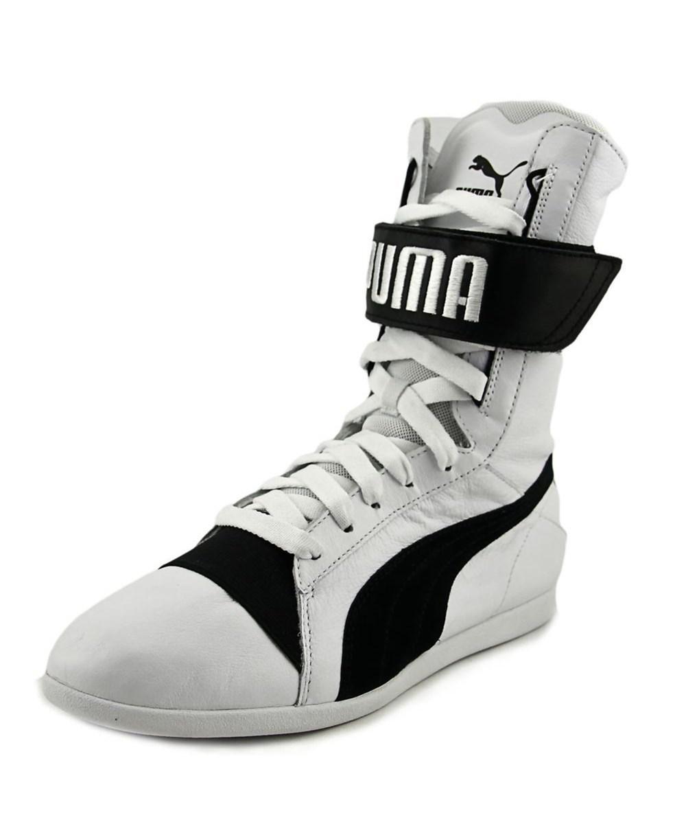 Lyst - Puma Eskiva New Hi Wn s Women Round Toe Leather White ... b7499e85dd