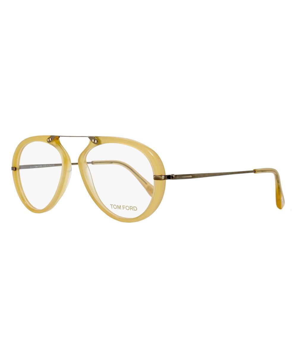 eea010f901 Lyst - Tom Ford Oval Eyeglasses Tf5346 039 Size  53mm Opal Honey ...
