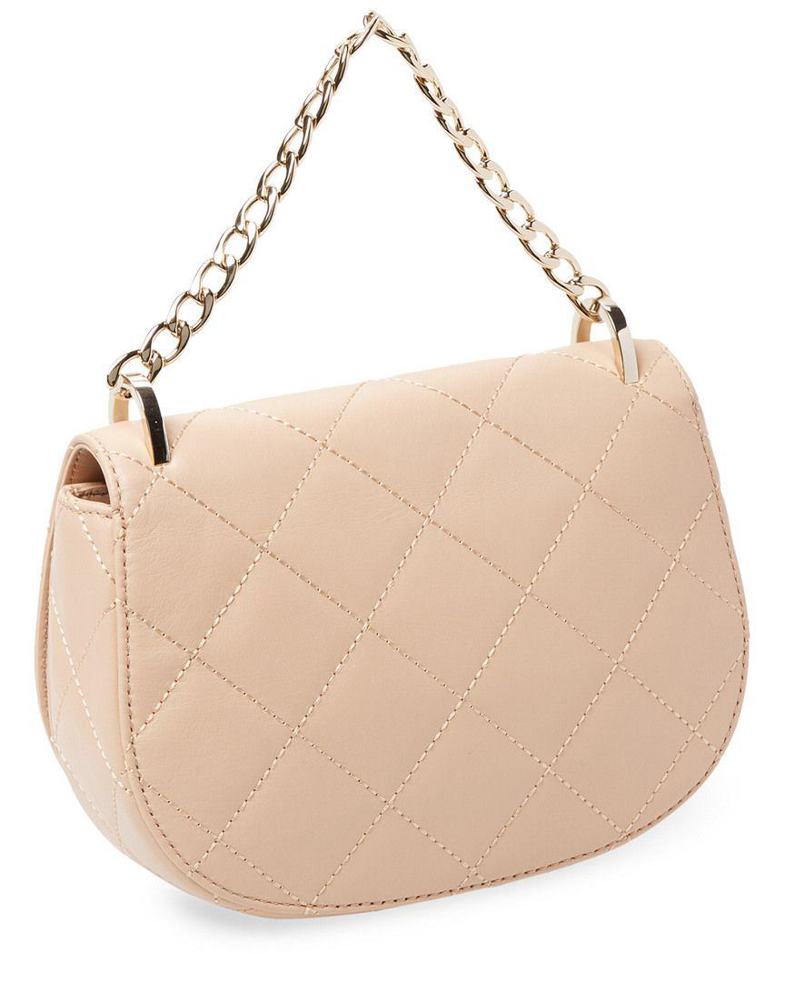 f9744561aa4 Lyst - Kate Spade Emerson Place Rita Quilted Saddle Bag in Natural