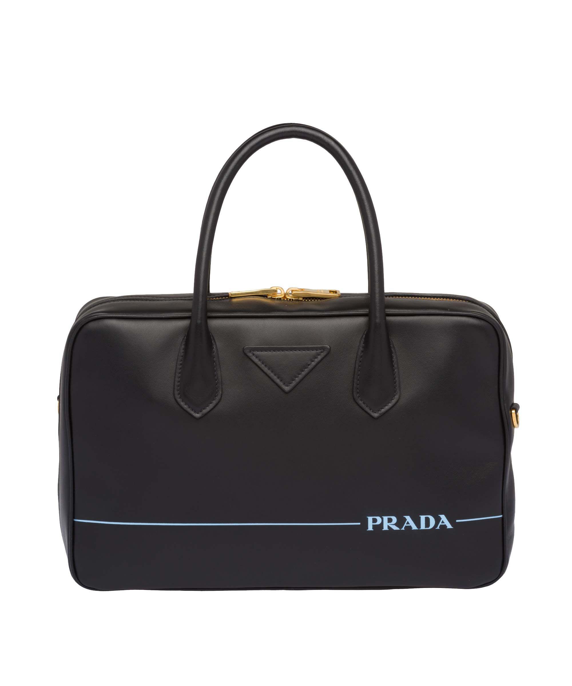 f26b91e345 Lyst - Prada Women s Black Leather Handbag in Black