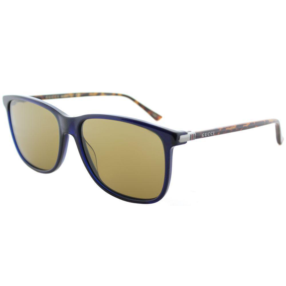 f449dda9ca3cf Gucci - Gg 0017s 005 Blue Square Sunglasses - Lyst. View fullscreen