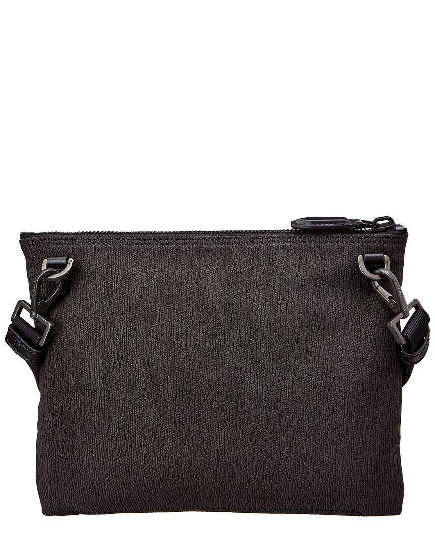 556a1b475a Lyst - Ferragamo Gancini Leather Shoulder Bag in Black for Men