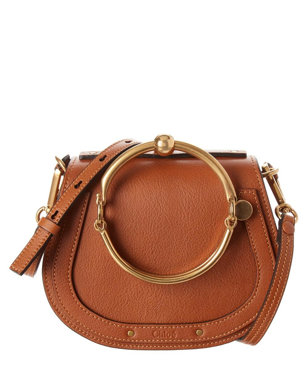 5863672586 Lyst - Chloé Small Nile Bracelet Leather Crossbody in Brown