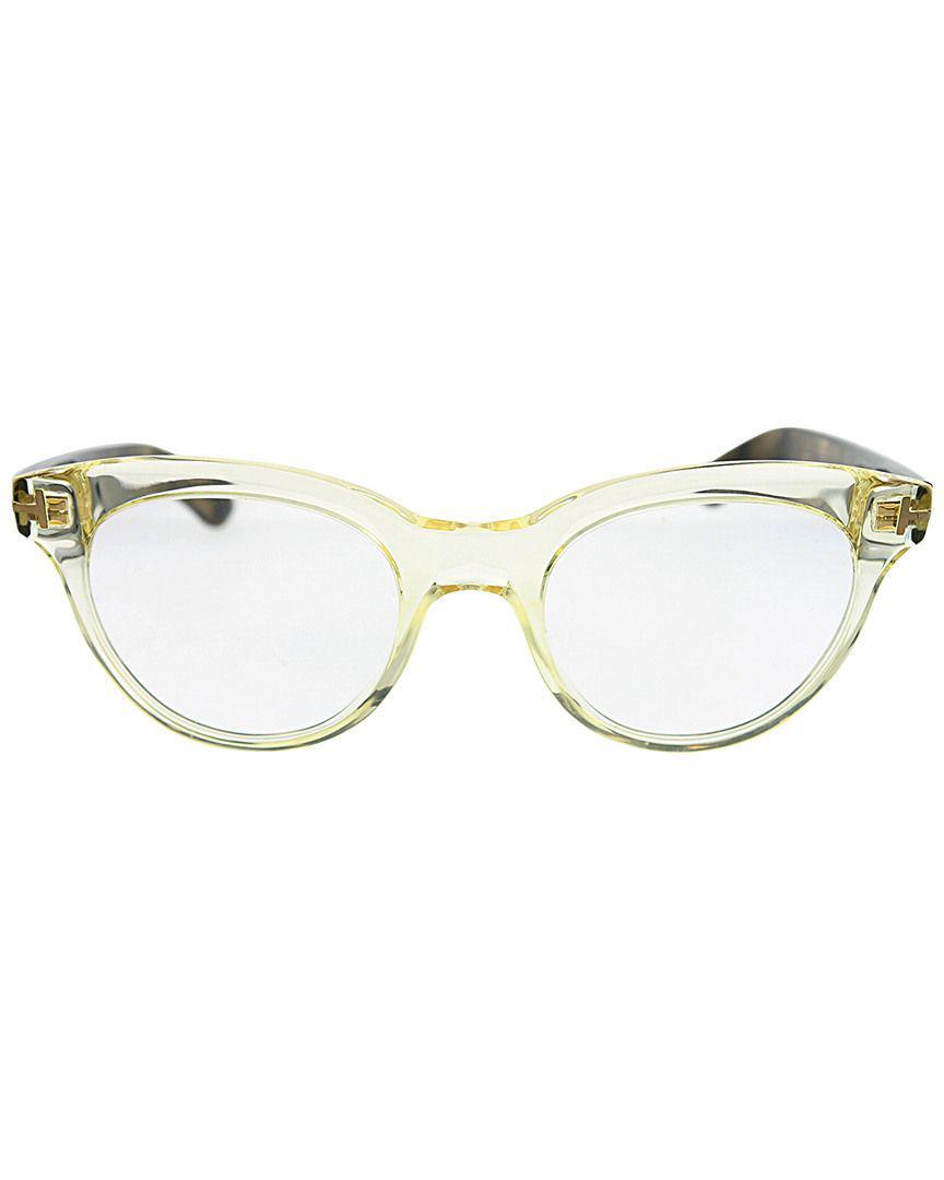 77d841afa5 Lyst - Tom Ford Ft5378 Shield Unisex Eyeglasses Crystal   Clear