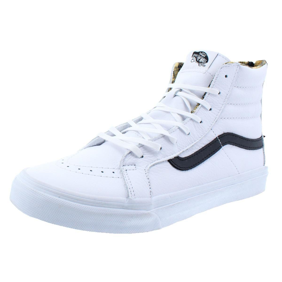 56036318a3 Vans. White Womens Sk8-hi Slim Zip Fashion Trainer Skateboarding Shoes