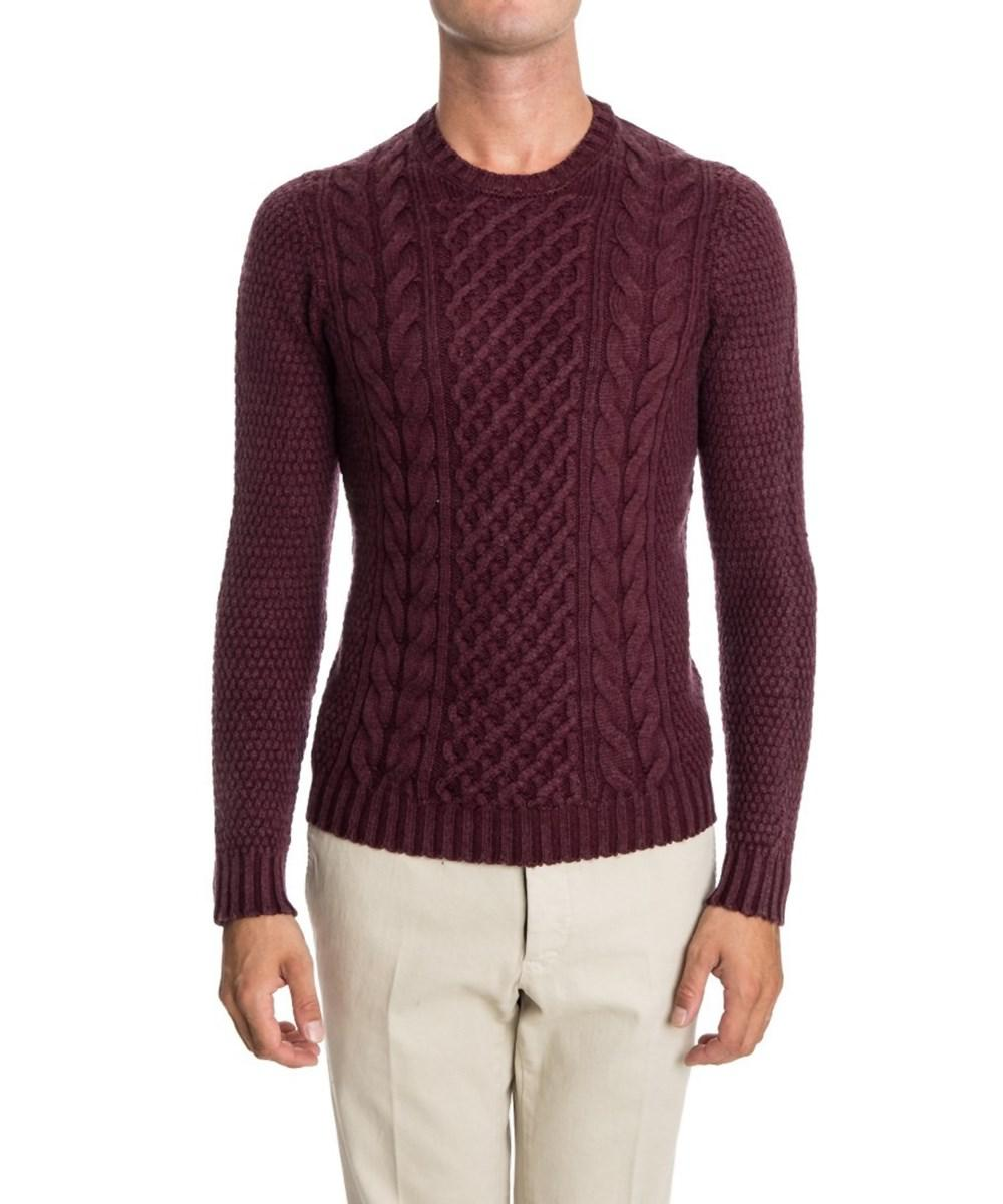 Drumohr Men's Burgundy Wool Sweater in Red for Men | Lyst