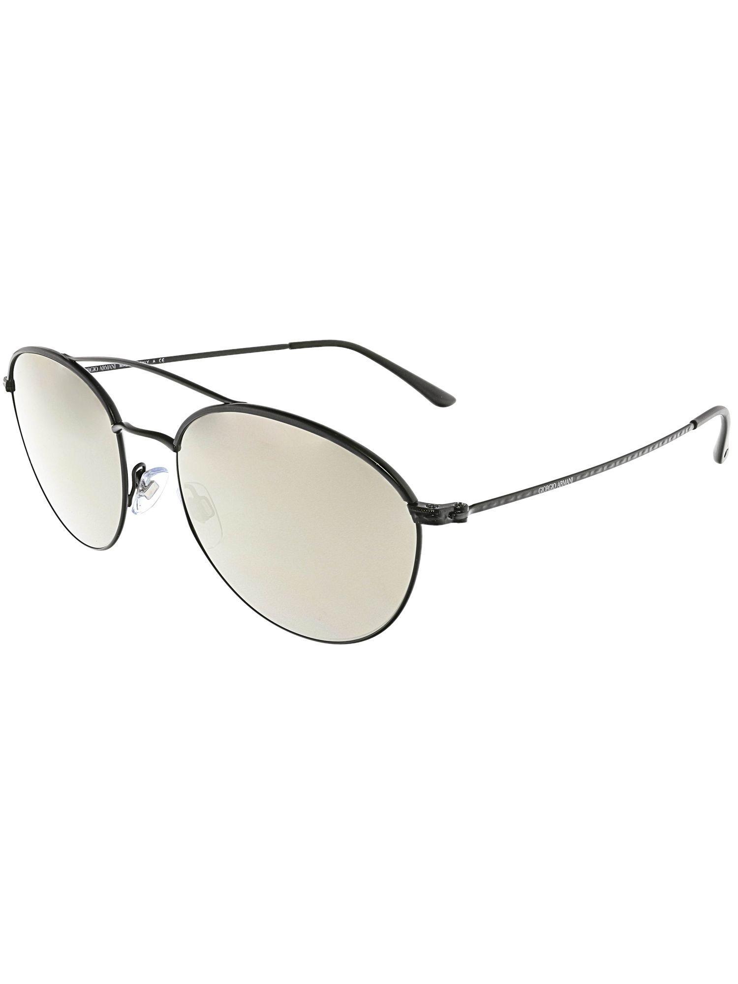02370297837 Giorgio Armani. Women s Mirrored Ar6032j-30015a-55 Black Oval Sunglasses