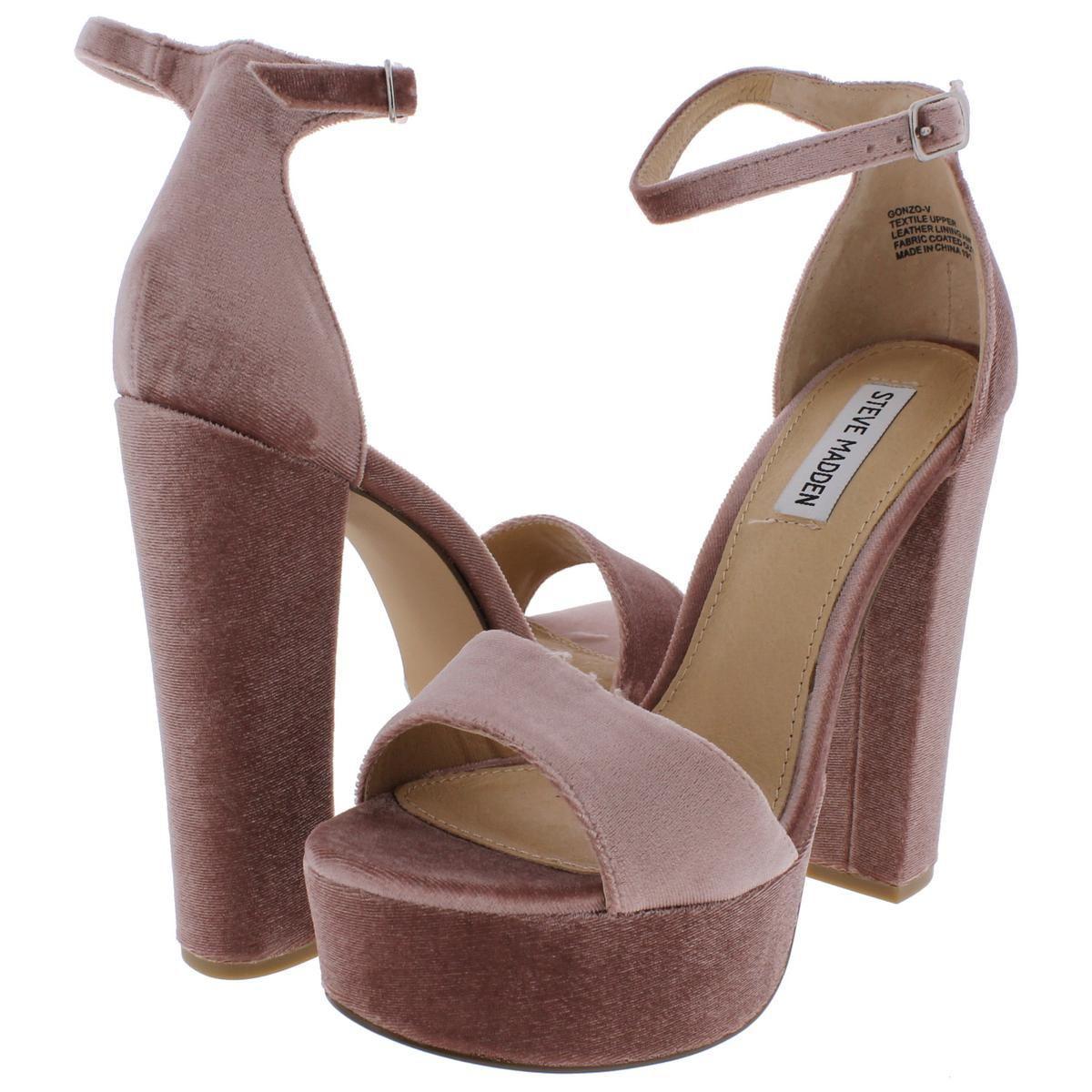 935399a9cf1 Steve Madden - Multicolor Womens Gonzo-v Velvet Platform Dress Sandals -  Lyst. View fullscreen