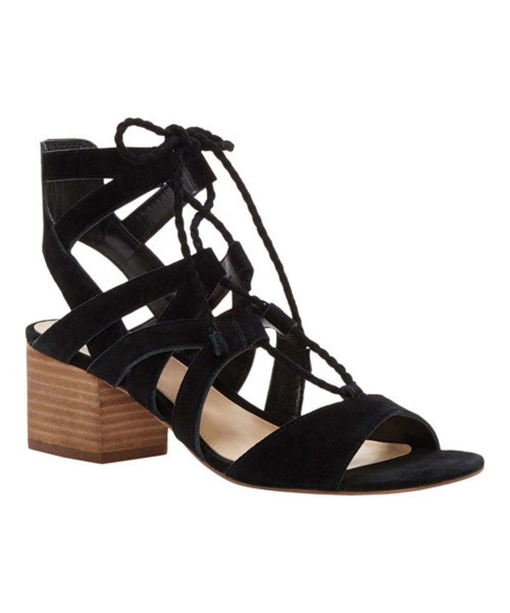 Fauna Black Mid Heel Sandal By Vince Camuto qBO0xeGR