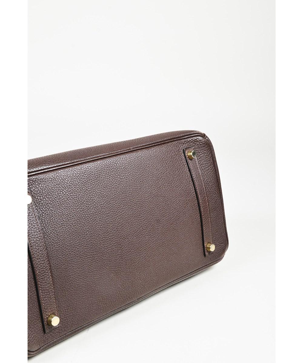 d427debe25 ... usa lyst hermès 1 cafe brown evergrain leather birkin 35 top 6c3cd 5ac37