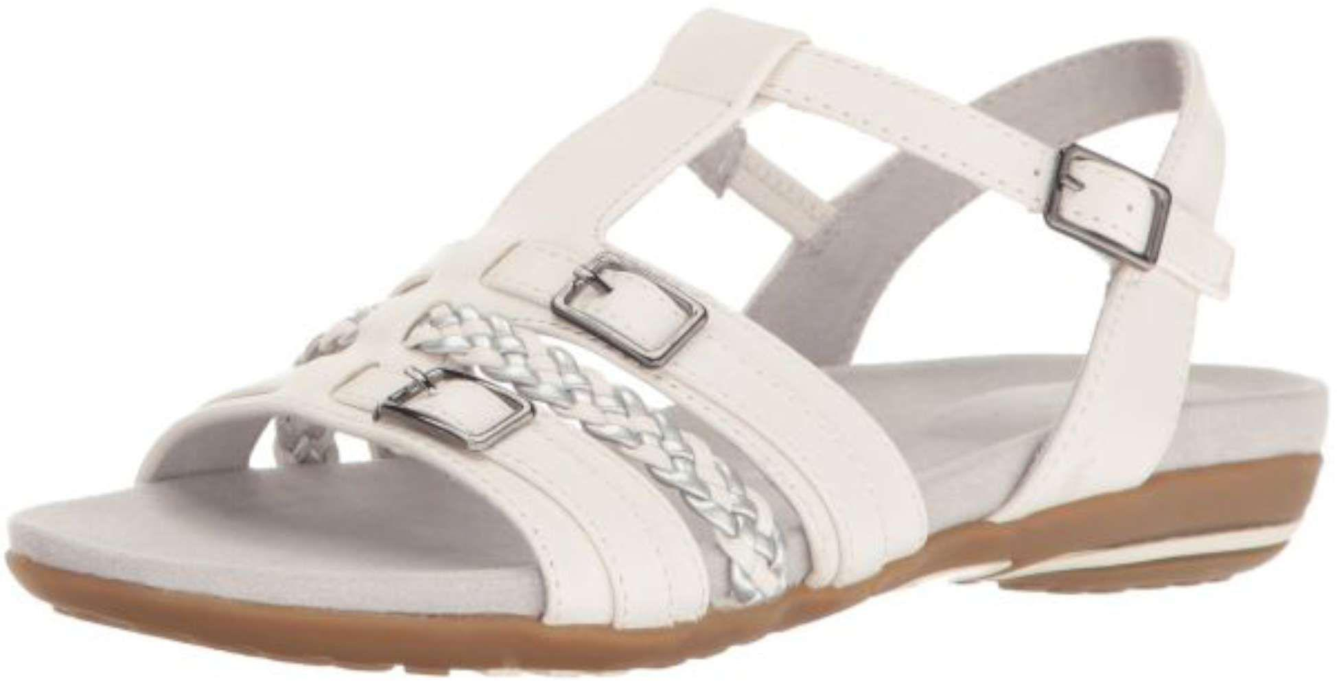 fb3e60d622c8 Easy Street - White Womens Parker Open Toe Casual Ankle Strap Sandals -  Lyst. View fullscreen