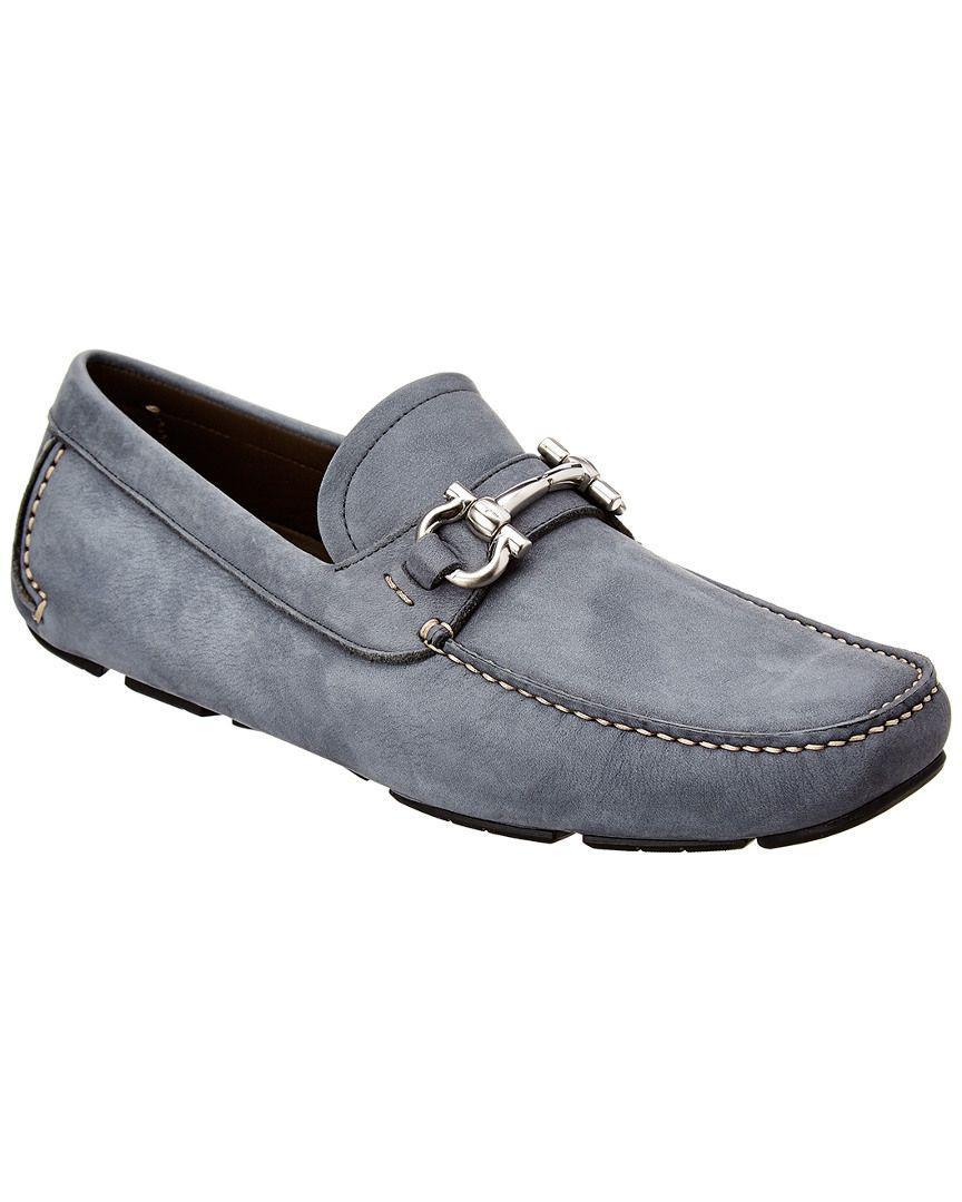 e0d336272bb Lyst - Ferragamo Gancini Leather Loafer in Blue for Men