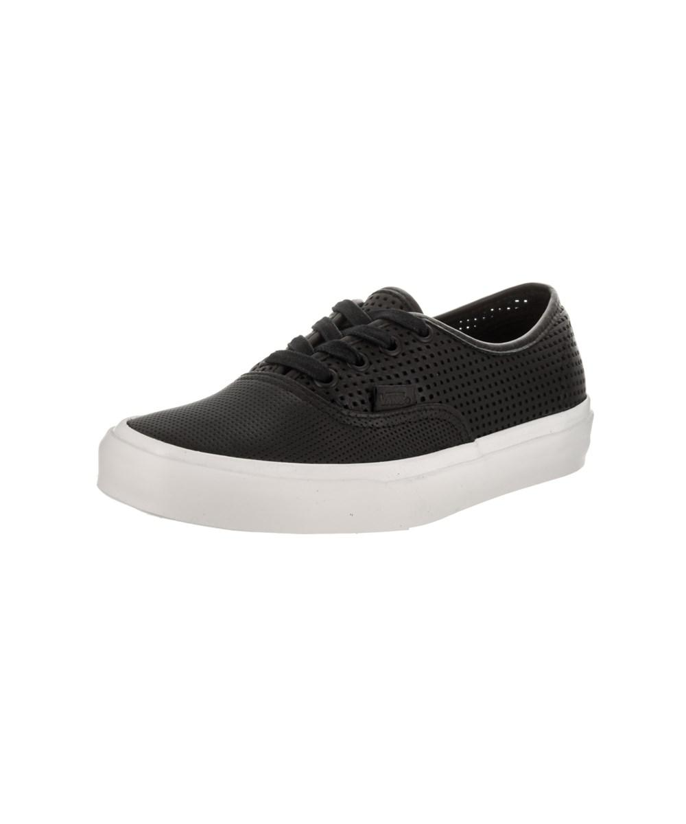 Lyst - Vans Unisex Authentic Dx (square Perf) Skate Shoe in Black ... 9965f5f8a