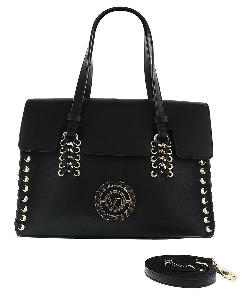 2058a564f6 Lyst - Versace Jeans Ee1vrbbi6 Black Shoulder Bag W  Detachable ...