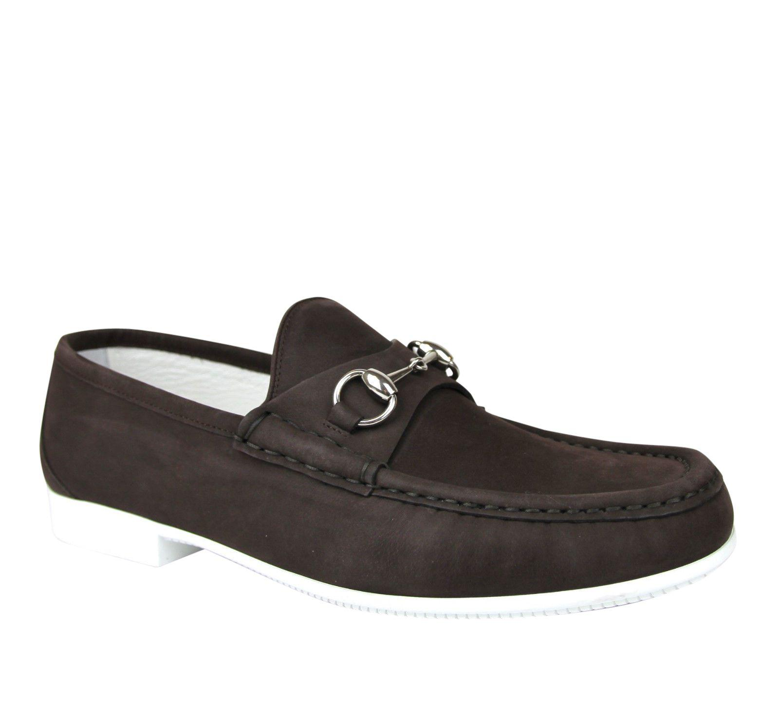 932723a753aed Lyst - Gucci Moccasin Suede Horsebit Loafer 337060 Bho00 in Brown ...