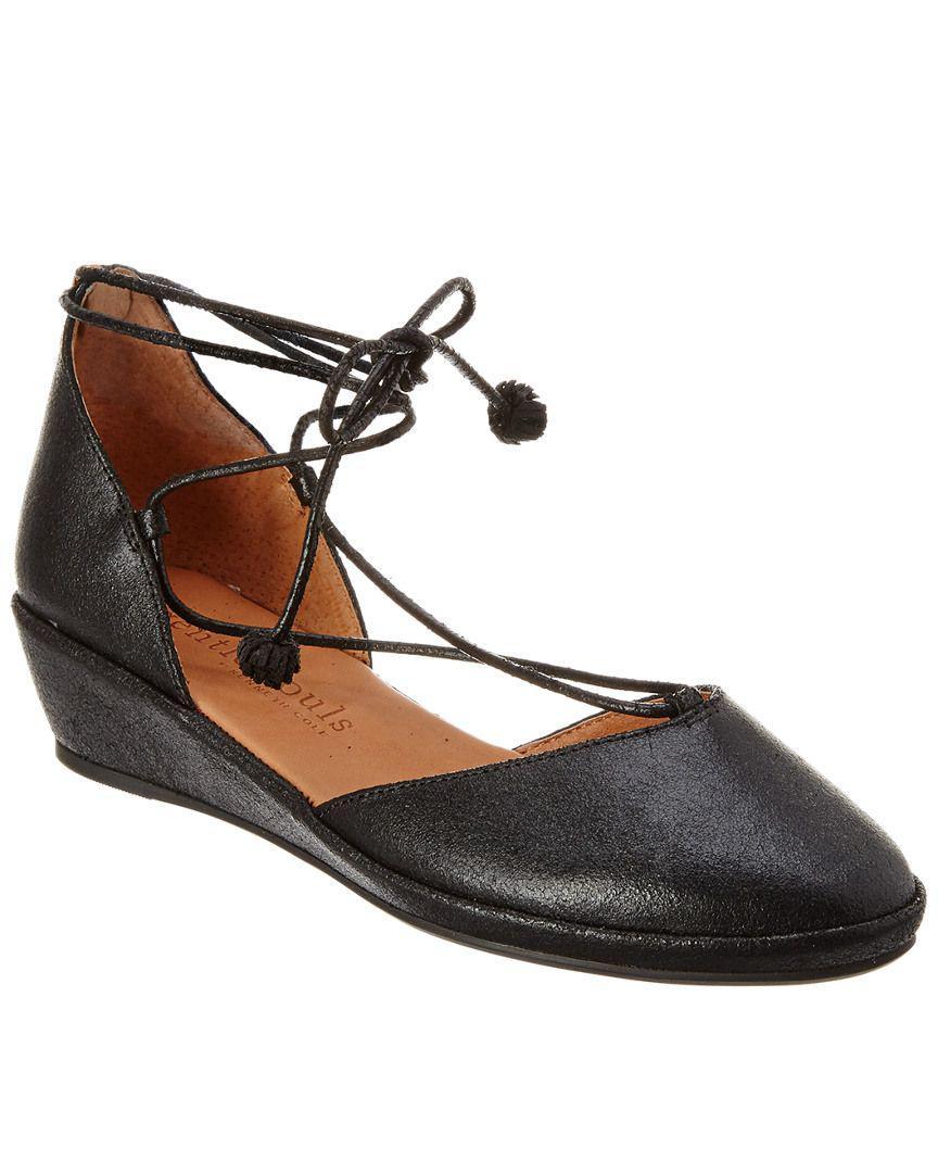 569edd5ca12b Lyst - Gentle Souls Nerissa Leather Wedge in Black