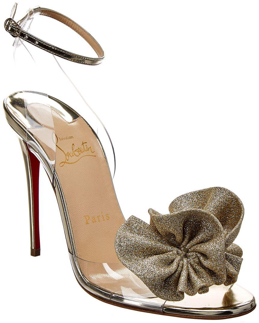 bc4ef7c691 Lyst - Christian Louboutin Fossiliza 100 Pvc Ankle Strap Sandal in ...