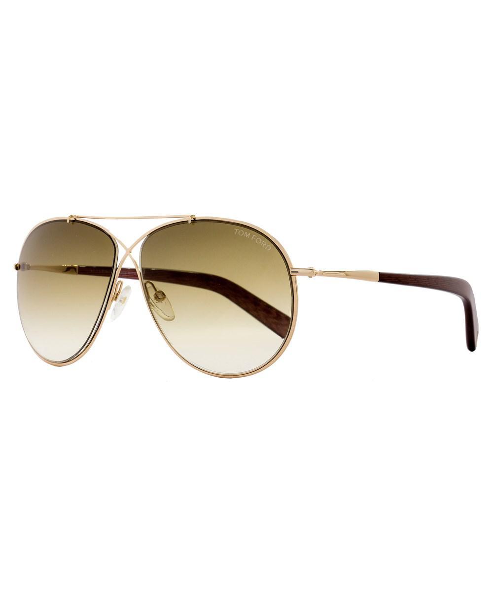 627109cfb69 Lyst - Tom Ford Aviator Sunglasses Tf374 Eva 28f Rose Gold ...