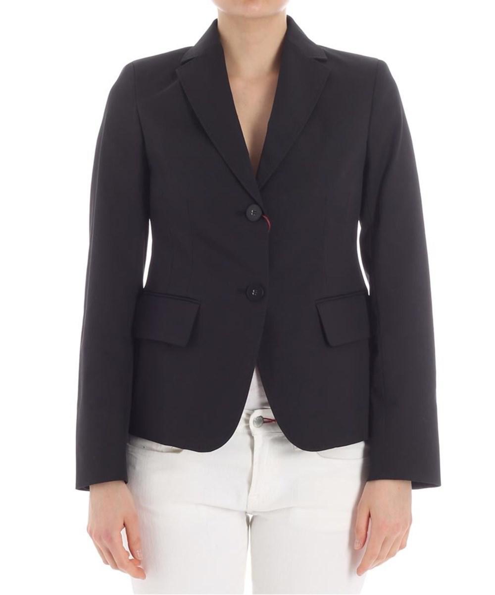 4ce55b7e9ffbd Lyst - Max Mara Women s Black Cotton Blazer in Black