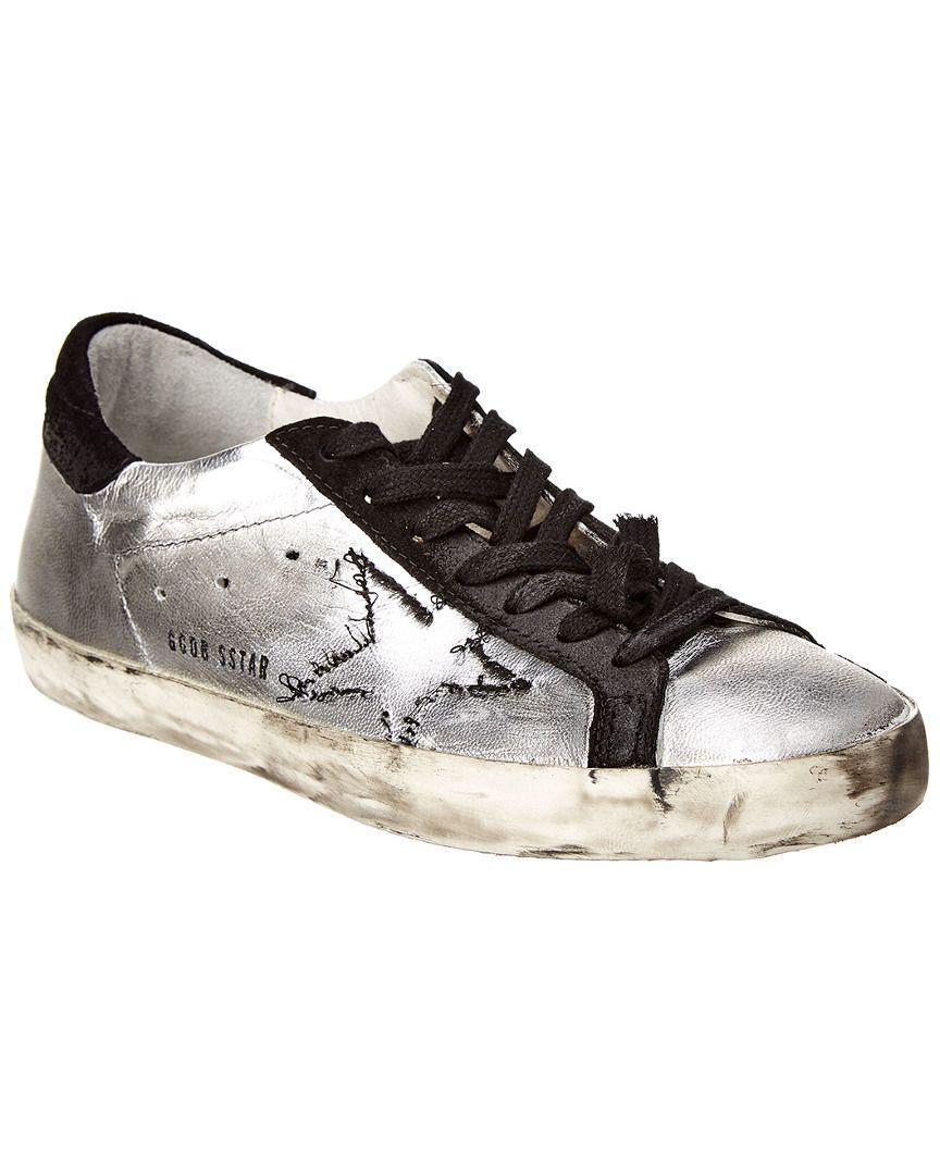 8326c75a2f2aa Golden Goose Deluxe Brand. Men s Metallic Leather   Suede Skateboard Sneaker