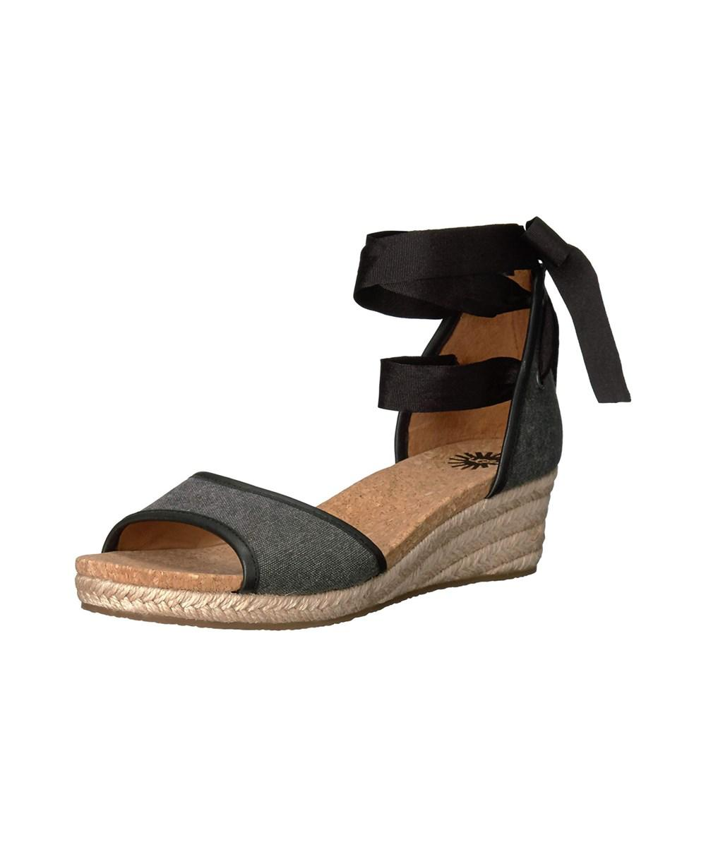e4a80b9fc96 Lyst - Ugg Ugg Women s Amell Wedge Sandal in Black
