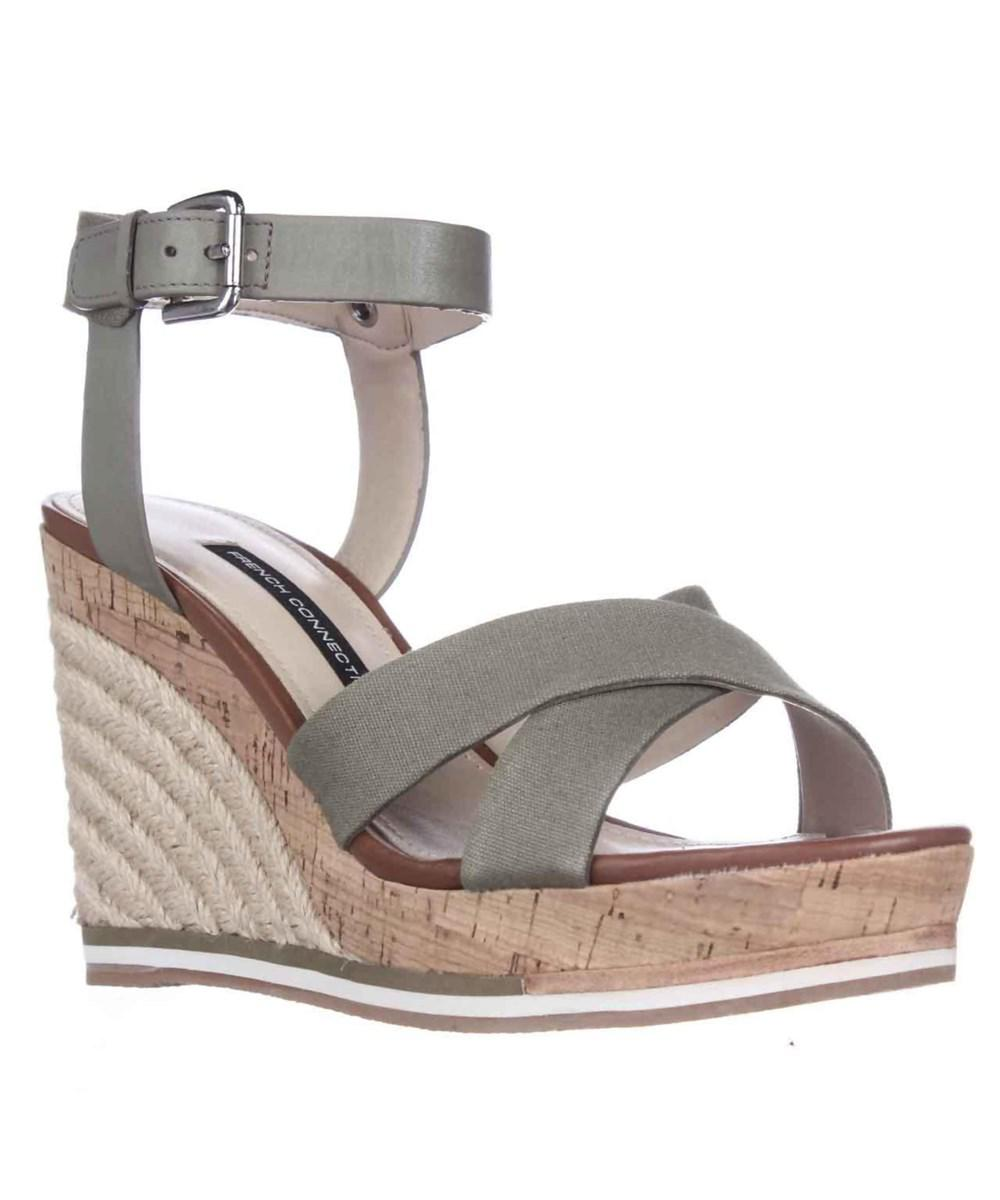 eaa0240a73ef Lyst - French Connection Lata Cork Espadrille Wedge Sandals - Shark ...