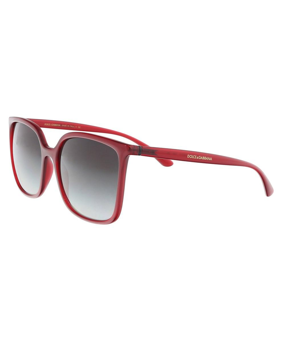 ee21ed5cb0a Dolce   Gabbana. Women s Red Dg6112 30918g Transparent Bordeaux Square  Sunglasses