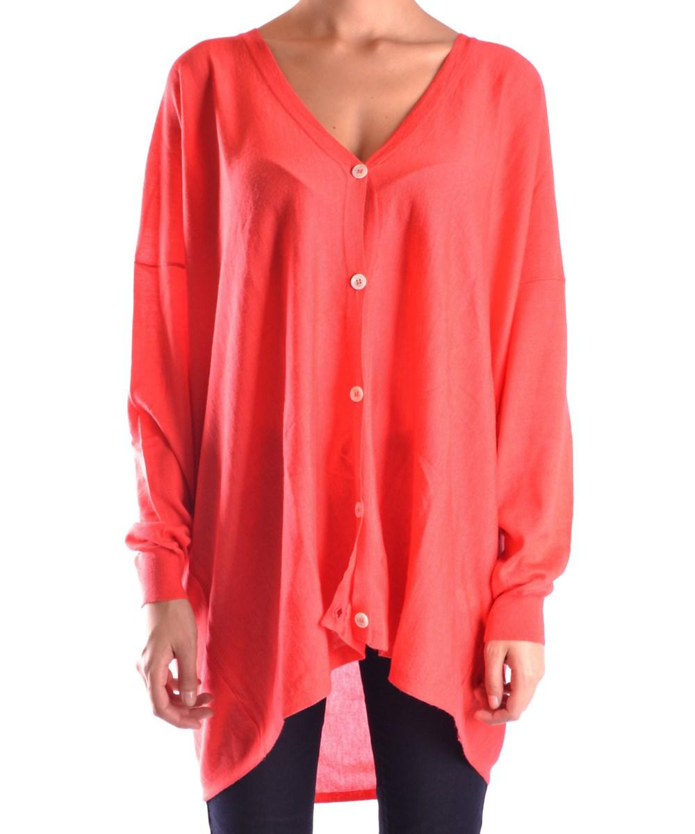 Roberto collina Women's Red Cashmere Cardigan in Red | Lyst