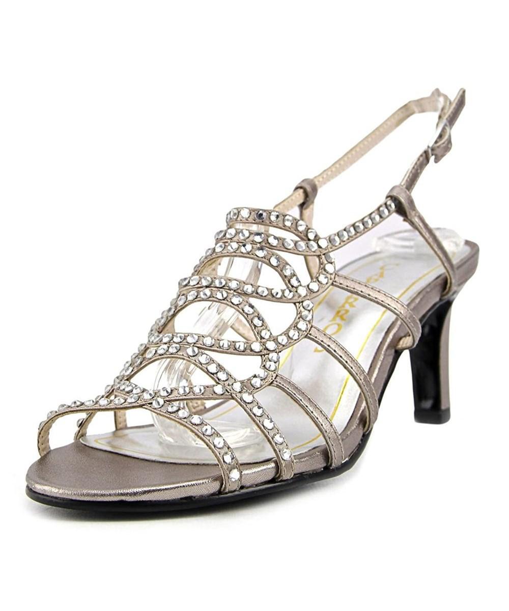 4d9251718c90 Lyst - Caparros A-list Women Open Toe Leather Sandals in Metallic