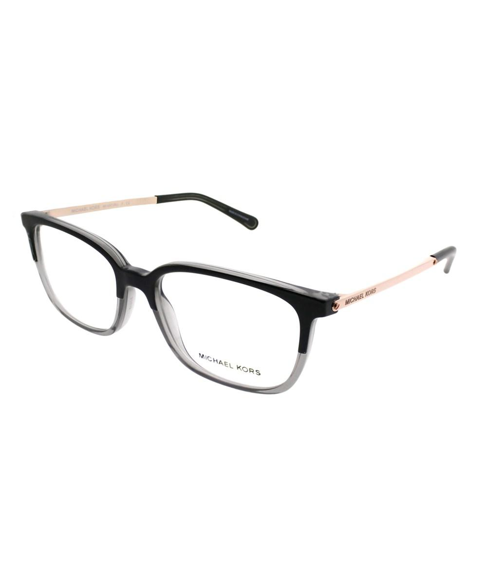 966d5f17a80ee Michael Kors Bly Black transparent Grey Rectangle Eyeglasses in ...