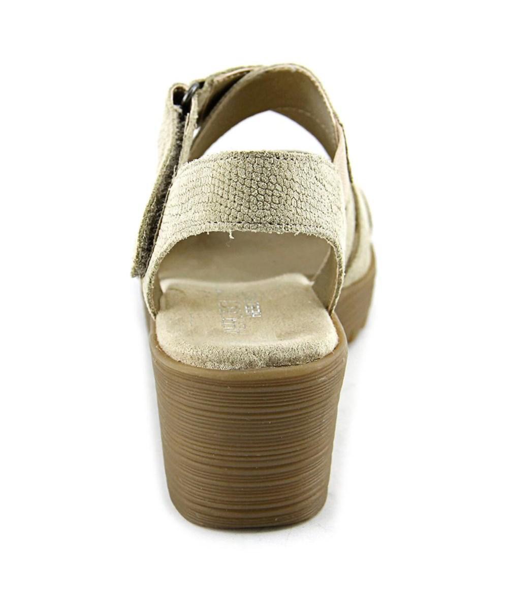 c3bcfbd9840 Lyst - Aerosoles Bogota Women W Open Toe Synthetic Nude Wedge Sandal ...