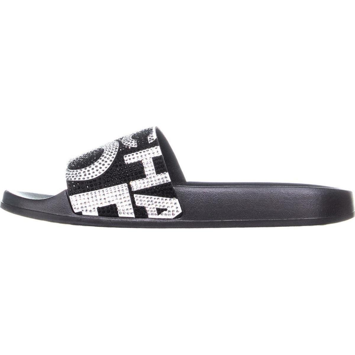 Lyst Michael Kors Gilmore Slide Sandals Black Optic White Clarette Sneakers Clarissa View Fullscreen