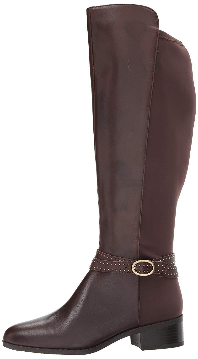7b68b3131d3 Lyst - Bandolino Womens Bryices Wide Calf Leather Almond Toe Knee ...